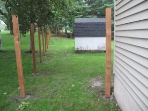 Fence in progress