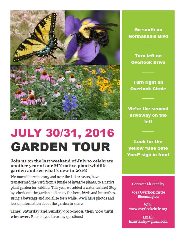 Garden tour details